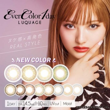 EverColor 1 DAY LUQUAGE 10片(12選色)